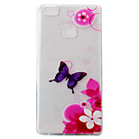 For Huawei Ascend P9 P9Lite P8Lite Case Cover Safflower Butterfly Pattern Painting Super Soft TPU Material