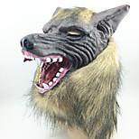 Хэллоуин жуткий резиновый животное грива оборотень волк голова маска Хэллоуин маскарад косплей партия костюм опора