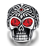 Revelation rider ring punk wind Maya fire eye skull Men's 316L steel ring
