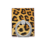 Phone Holder Stand Mount Desk / Outdoor Ring Holder / 360° Rotation Plastic Leopard Pattern for Mobile Phone