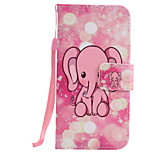 For iPhone 7Plus 7 6s Plus 6Plus 6S 6 SE 5s 5 PU Leather Material Pink Elephant Embossed Protective Cover