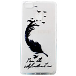 For Huawei Ascend P9 P9Lite P8Lite Case Cover Black Feathers Pattern Painting Super Soft TPU Material