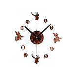 Retro Style DIY Creative Deer Head Mute Wall Clock