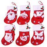 12PCS Christmas Stocking Christmas Ornaments(Style random)