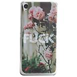Para Diseños Funda Cubierta Trasera Funda Flor Suave TPU para Sony Sony Xperia XA / Sony Xperia E5