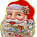 Christmas Decorations Stereo Double-sided Stickers 40*32CM Pattern Is Random