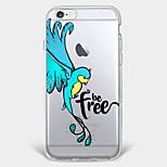 Pour Coque iPhone 7 Coque iPhone 6 Coque iPhone 5 Motif Coque Coque Arrière Coque Animal Flexible PUT pour AppleiPhone 7 Plus iPhone 7