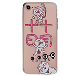 Para Transparente / Diseños Funda Cubierta Trasera Funda Gato Suave TPU AppleiPhone 7 Plus / iPhone 7 / iPhone 6s Plus/6 Plus / iPhone