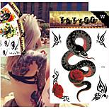 5 Tattoo Stickers Animal Series / Flower Series / Totem Series / OthersBaby / Child / Women / Men / Teen Flash Tattoo Temporary Tattoos