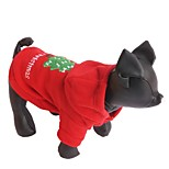 Cat Dog Hoodie Dog Clothes Winter Solid Christmas New Year's Red