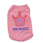 Cute Polyester Flag Baseball Crown Square Shirt Summer Dog Clothes for Pets