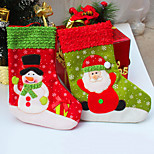 2Pcs/lot Santa Christmas Stocking for Party Decoration Socking Gift Christmas Socks for Christmas Gift&Decoration