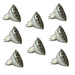 8PCS MR16 27 SMD 5050 300LM AC220V Warm White/White Dimmable / Decorative LED Spotlight