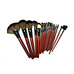18 Makeup Brushes Set Horse Portable Wood Face NFSS / Send Package