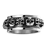 Skull RingPunk 316L Titanium Steel Gift For Women And Men Dress AccessoriesForeign Hot Retro Punk Skull Titanium Ring