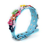 Dog Collar Electronic/Electric Solid Blue Plastic