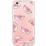 For iPhone 7 7Plus Watermelon Pattern TPU Ultra-thin Translucent Soft Back Cover for iPhone 6s 6 Plus 5s 5 5E