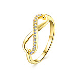 lureme  Fine Jewelry Cubic Zirconia 8 Words Diamond Ring Engagement Band Ring