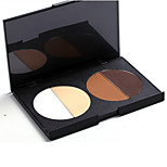 4 Color Highlighters/Bronzers Powder Coloured Gloss / Long Lasting / Fast Dry Face