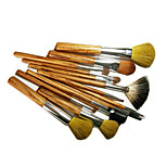 14 Makeup Brushes Set Goat Hair Portable Wood Face G.R.C / Send Package