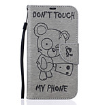 For Motorola Case Wallet / Card Holder / with Stand / Embossed Case Full Body Case Cartoon Hard PU Leather Motorola MOTO G4 / Moto G4 Plus