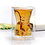 1PC Creative Roses Double-Layer Glass Red Wine Glassware