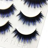 Eyelashes lash Full Strip Lashes Eyes Thick / Colorful Volumized Handmade Fiber Black Band 0.07mm 13mm