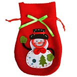 New Cartoon Christmas Snowman Candy Bag Handbag Home Party Decoration Gift Bag Storage Bag Red Wine Bottle Cover Bags