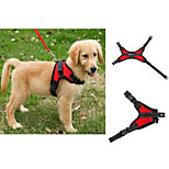 Dog Harness Adjustable/Retractable / Vest Camouflage / Leopard Red / Black / Blue / Purple Mesh