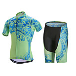 Sports Cycling Jersey with Shorts Men's Short Sleeve BikeBreathable / Quick Dry / Anatomic Design / Front Zipper / 3D Pad