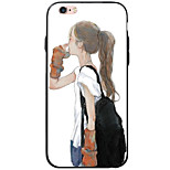 Transparent Pattern Sexy Lady TPU&Acrylic Soft Case For Apple iPhone 6s Plus 6 Plus iPhone 6s 6 iPhone SE 5s 5