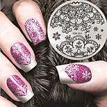 Manicure Printing Template Christmas Snow in Winter