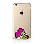 Para Translúcido / Estampada Capinha Capa Traseira Capinha Cachorro Macia TPU AppleiPhone 7 Plus / iPhone 7 / iPhone 6s Plus/6 Plus /
