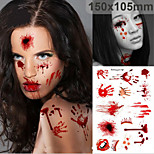 Halloween Horror Simulation Scar l Temporary Tattoo Comfortable Waterproof  (1Pc)