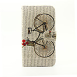 Bicycle Pattern PU Leather Full Body Case with Stand and Card Slot for LG G5