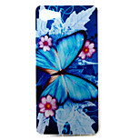 For Wiko  Lenny3 Lenny2 U FEEL  U FEEL Lite  Sunny Jerry Phone Case Cover Blue Butterfly Pattern Painted TPU Material