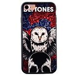 For iPhone 7 Case / iPhone 7 Plus Case / iPhone 6 Case Embossed / Pattern Case Back Cover Case Owl Hard Acrylic AppleiPhone 7 Plus /
