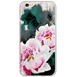 Para Estampada Capinha Capa Traseira Capinha Flor Rígida PC Apple iPhone 6s Plus/6 Plus / iPhone 6s/6 / iPhone SE/5s/5
