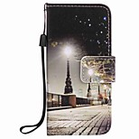 City Scenery Painting PU Phone Case for apple iTouch 5 6