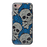 Skeleton Pattern Painted Three-Dimensional Relief TPU Material Phone Shell For iPhone 7 7 Plus 6 6 Plus
