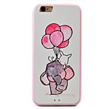 Elephant Pattern Relief High Strength Touch Handle TPU Frame  Acrylic Material Phone Shell For iPhone 7  7Plus 6S 6 Plus