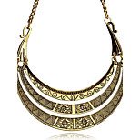 Necklace Non Stone Choker Necklaces Jewelry Party / Daily Unique Design Alloy Coppery Vintage