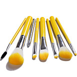 8pcs Blush Brush / Eyeshadow Brush / Brow Brush / Eyeliner Brush Professional / Travel / Full Coverage Wood