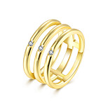 lureme  Fine Jewelry Cubic Zirconia Closed Diamond Ring Engagement Band Ring