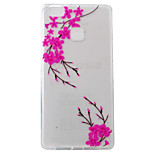 For Huawei Ascend P9 P9Lite P8Lite Case Cover Peach Pattern Painting Super Soft TPU Material