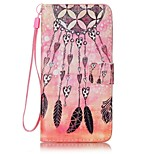 Wind Chimes  Painted Card Stent PU Leather Mobile Phone Holster Phone Case for Huawei P9 Lite Y5II Y6II