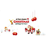 Wall Stickers Wall Decals Style Snowflake Santa Claus PVC Wall Stickers