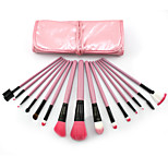 15 Makeup Brushes Set Synthetic Hair Professional / Portable Wood Face / Eye / Lip