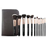 11 Makeup Brushes Set Nylon Professional / Portable Wood Face/Eye / Lip