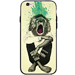Transparent Pattern Animal Lion TPU&Acrylic Soft Case For Apple iPhone 6s Plus 6 Plus iPhone 6s 6 iPhone SE 5s 5